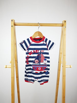 TU striped nautical romper 6-9 months