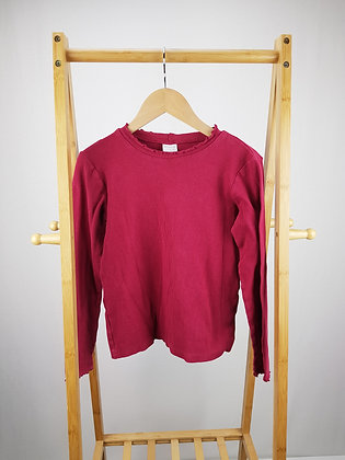 F&F berry ribbed long sleeve top 13-14 years