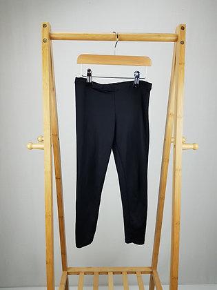 F&F black leggings 7-8 years