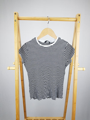 George striped ribbed t-shirt 11-12 years