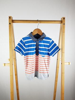 Nutmeg striped polo shirt 3-4 years