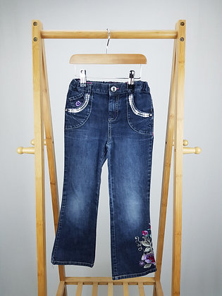 M&S embroidered sequin detail jeans 5-6 years