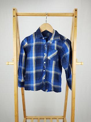 Bluezoo long sleeve checked shirt 8 years