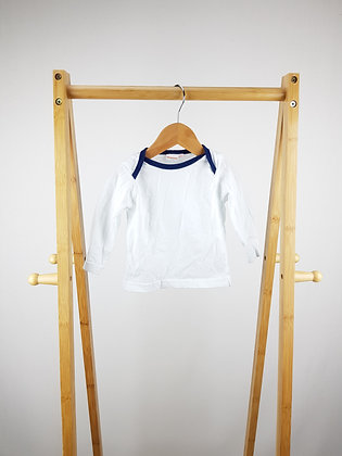 Bluezoo white long sleeve top 3-6 months