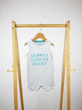 F&F cheeky like daddy romper 9-12 months