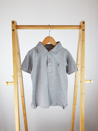 All Saints grey polo shirt 6 years