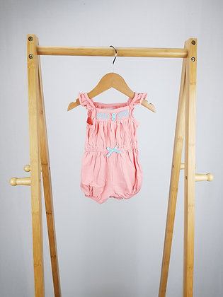 Early days embroidered playsuit 0-3 months