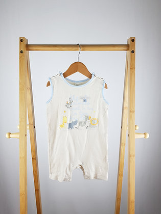 Tiny Ted jungle animals romper 6-9 months