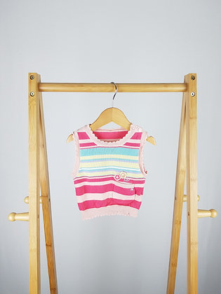 George baby girl knitted vest 3-6 months