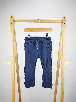 F&F navy trousers 18-24 months