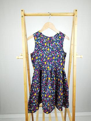 Navy floral dress 11-12 years