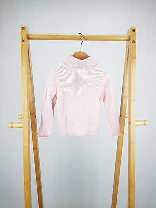 George pink roll neck sweater 12-18 months