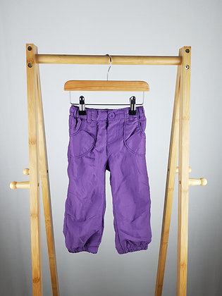 Early days purple trousers 18-24 months