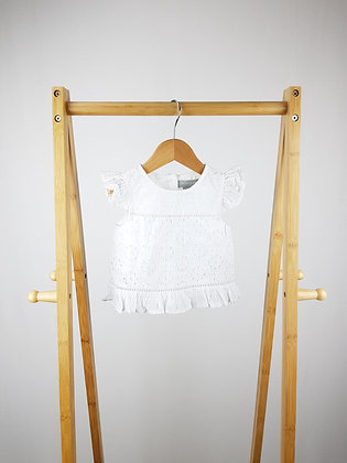 Primark white lace top 12-18 months