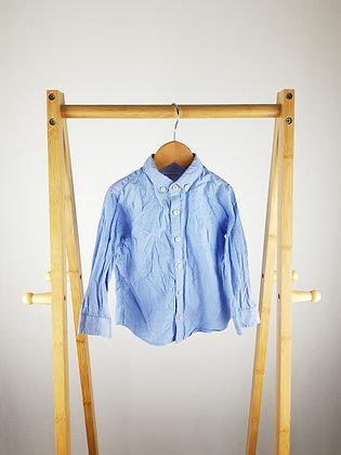 Next blue shirt 18-24 months