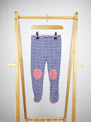 Joules striped bottoms with closed feet 18-24 months
