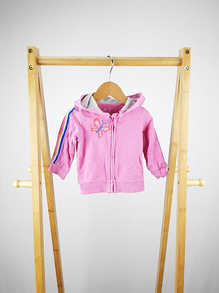 F&F pink zipped hoodie  3-6 months