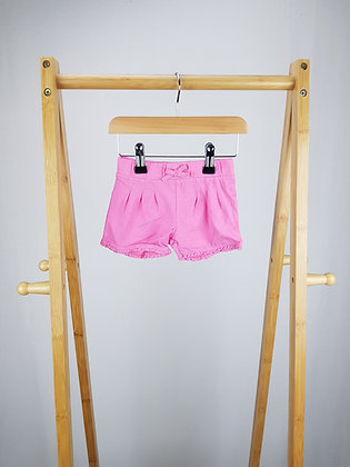 F&F pink shorts 3-6 months