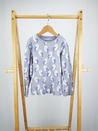 M&S owl pyjama top 6-7 years playwear