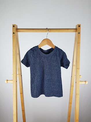 Primark blue marl t-shirt 2-3 years