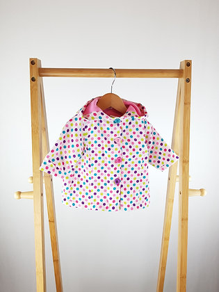 Baby light spotted coat 0-3 months