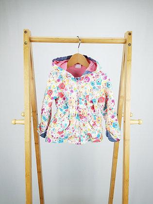 F&F light floral coat 12-18 months