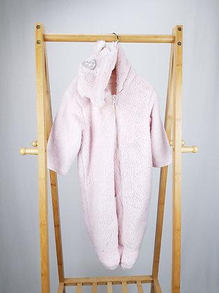 M&S pink unicorn pramsuit 9-12 months