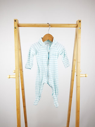 Bonds striped zip wondersuit 0-3 months