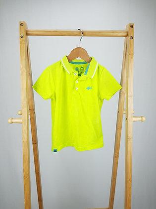F&F green shark polo shirt 2-3 years
