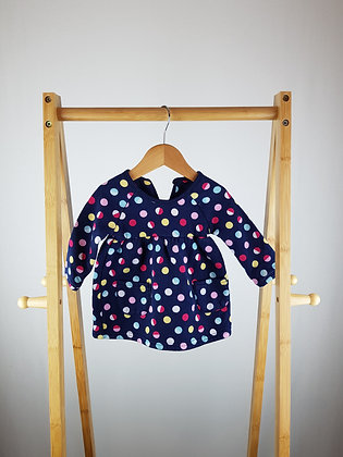 George spotted  long sleeve  dress 3-6 months