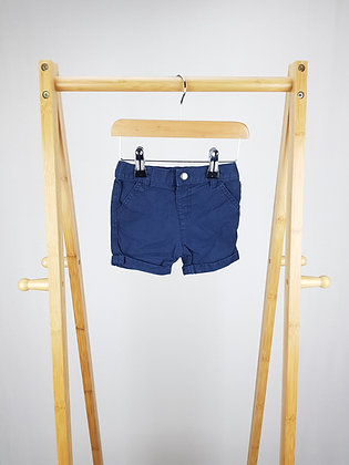 F&F navy shorts 6-9 months