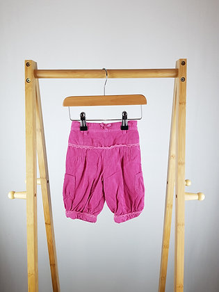 Mini mode lined pink corduroy trousers 3-6 months
