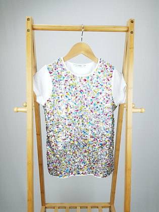 George sequin t-shirt 11-12 years