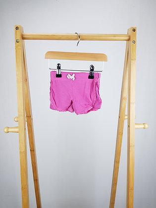 F&F pink shorts 0-3 months