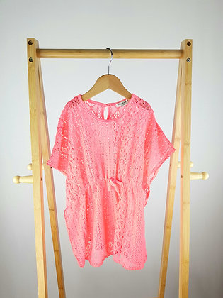 Primark neon pink top/cover up 6-7 years