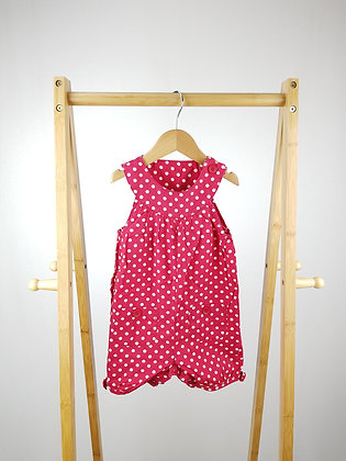 George red spotted romper 12-18 months