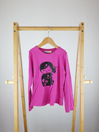 M&Co pink long sleeve top 5-6 years