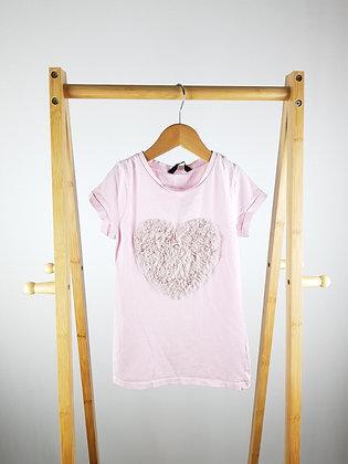 George beaded heart t-shirt 5-6 years