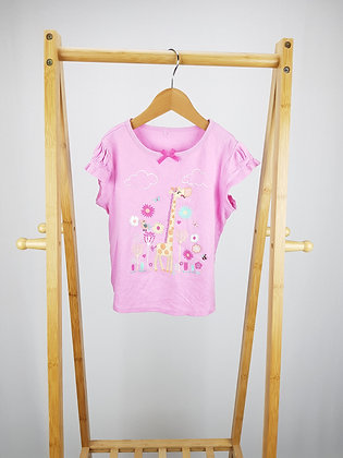 George pink giraffe t-shirt 4-5 years