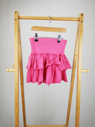 H&M pink tiered skirt  7-8 years
