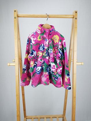 Joules floral fleece jumper 5-6 years