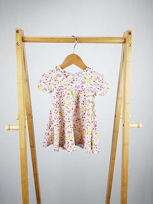Nutmeg floral dress 6-9 months