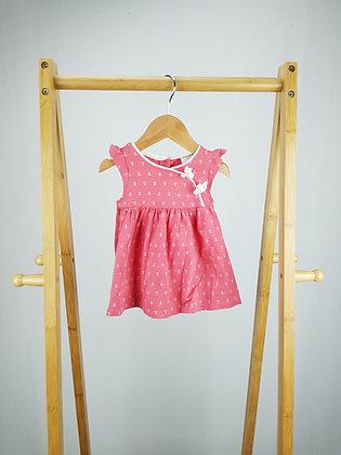 Jasper Conran pink floral dress newborn
