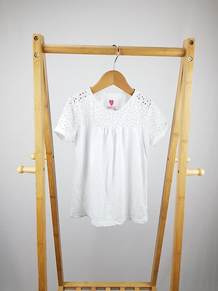 F&F white t-shirt 7-8 years