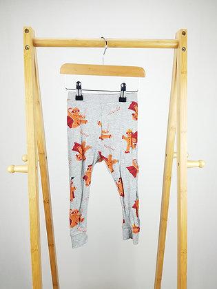 Bluezoo gingerbread man pyjama bottoms 18-24 months
