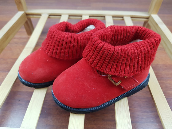 Red ankle boots UK 7
