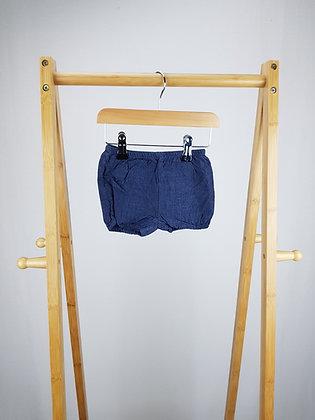 Matalan denim look shorts 0-3 months