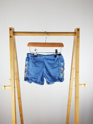 M&S embroidered denim shorts 3-4 years