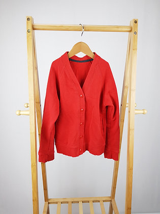 M&S red cardigan 7-8 years