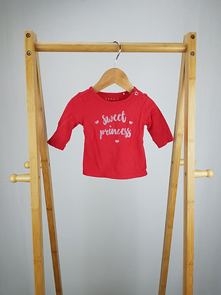 Esprit red long sleeve top up to 1 month